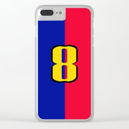soccer team jersey number eight Clear iPhone Case
