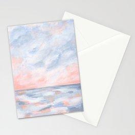 Good Morning - Pink and Orange Sunrise Seascape Stationery Cards