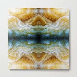 Abstract Mineral Crystal Texture Metal Print