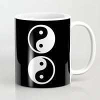 yin yang Mugs featuring Yin Yang by Beautiful Homes