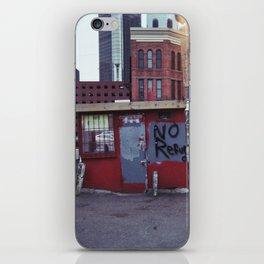 no refu iPhone Skin