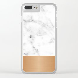 Copper & marble Clear iPhone Case
