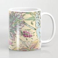 tiffany Mugs featuring tiffany garden by Ariadne