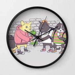 Meowy Wowy Wall Clock
