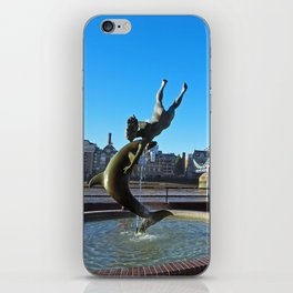 Girl With A Dolphin iPhone Skin