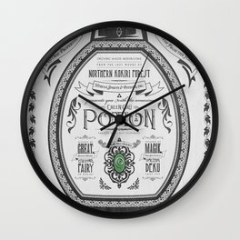 Legend of Zelda Green Chu Potion Advertisement Wall Clock