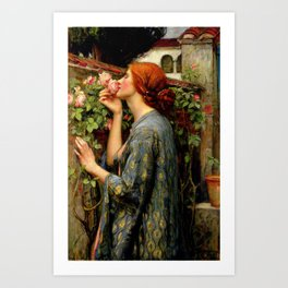 "John William Waterhouse ""The Soul of the Rose"" Art Print"