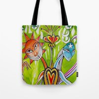 alchemy Tote Bags featuring Alchemy  by LuxMundi