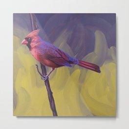 Nothern Cardinal Metal Print
