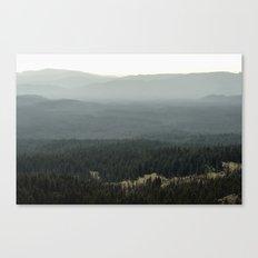 Oregon Mountain Forest Canvas Print