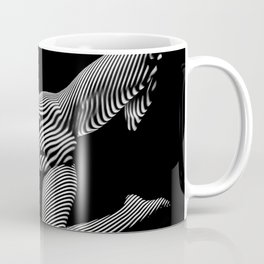 8431-KMA BW Striped Art Nude Woman Open Free Empowered Coffee Mug