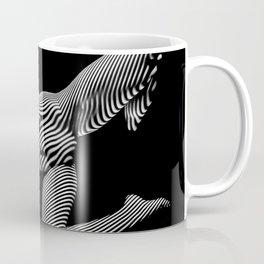 8431-KMA BW Striped Art Nude Woman Open Free Empowered Coffee Mug
