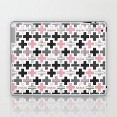 Geometric cross illustration plus sign pattern Laptop & iPad Skin