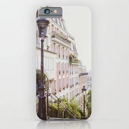 Montmartre Steps - Paris Travel Photography iPhone Case