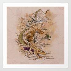 Path of Dragon Art Print