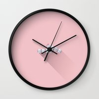 budapest hotel Wall Clocks featuring The Grand Budapest Hotel · J.G. Jopling by Lorena G