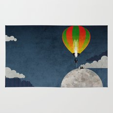Picnic in a Balloon on the Moon Rug
