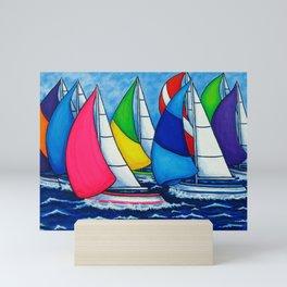 Colourful Regatta Mini Art Print