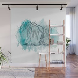 Weeping Willow Tree Wall Mural