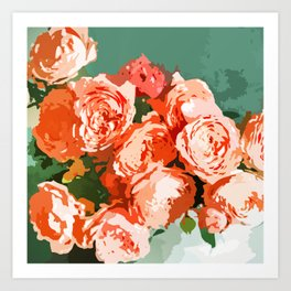Perfect Blossom #painting #botanical Art Print