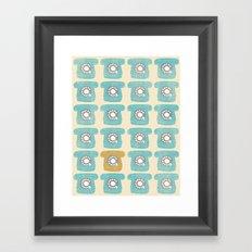 Rotary Phones Framed Art Print