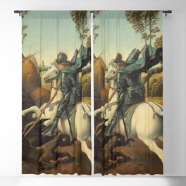 Saint George and the Dragon Oil Painting By Raphael Blackout Curtain