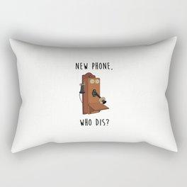 New Phone, Who Dis? Rectangular Pillow