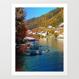 Boats in the harbour | waterscape photography Art Print