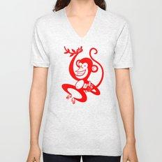 Red Monkey Unisex V-Neck