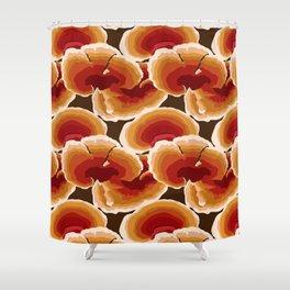 Retro Reishi Mushrooms Shower Curtain