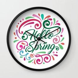 Hello Spring Wall Clock