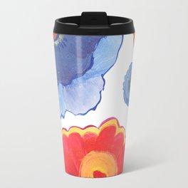 Red and Blue Watercolor Wallpaper Travel Mug