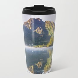 Misty Dawn Lake Travel Mug