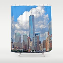 Riding the Staten Island Ferry Shower Curtain
