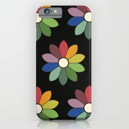 Flower pattern based on James Ward's Chromatic Circle (vintage wash) iPhone Case