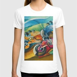 Italian Grand Prix Motorcycle Racing in the Alps by Ugo Giannattasio T-shirt
