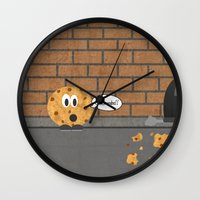 cookie Wall Clocks featuring Cookie by Laugh Your Head Off
