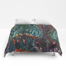 Pulse of Kelp (Sonic Sea Surge) Comforters