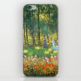 Claude Monet The Artist's Family In The Garden iPhone Skin