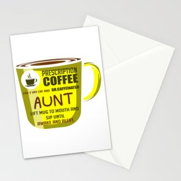 Prescription Coffee Aunt Coffee Person And Aunt Gift Stationery Cards