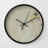 human Wall Clocks featuring Human  by Galen Valle