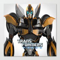 transformers Canvas Prints featuring Transformers Prime by giftstore2u