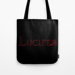 Archangel Lucifer with Feather Dark Tote Bag