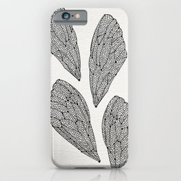 Black Cicada Wings iPhone Case