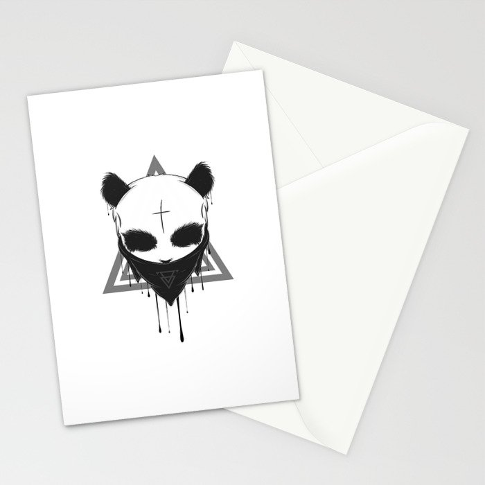 Gangster Panda Stationery Cards