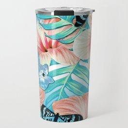 Tropical Spring Aqua Travel Mug