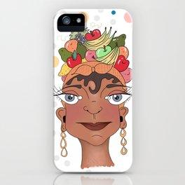 Tres Damas de Frutas by Ramona X iPhone Case