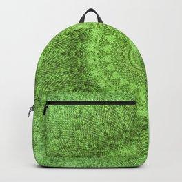 Sunflower Feather Bohemian Leaf Pattern \\ Aesthetic Vintage \\ Green Teal Aqua Color Scheme Backpack