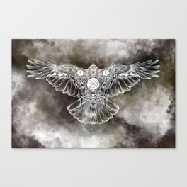 Raven of Fate (colore) Canvas Print