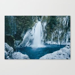 Winter Wahclella Falls Canvas Print
